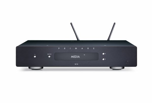 Primare SC15 Prisma preamplifier and network player front black