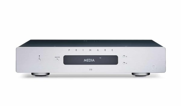 Primare I15 integrated amplifier front titanium